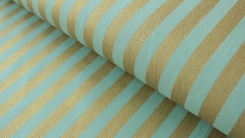 Mint-goldfarbener Baumwollstoff: Bouquet Sauvage - 140 cm kaufen im Makerist Materialshop