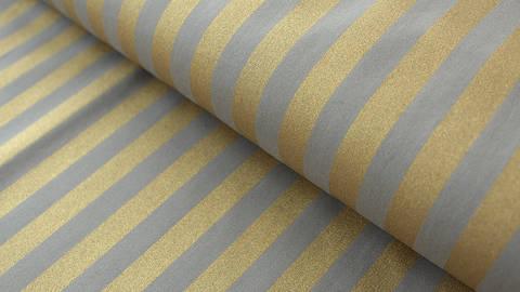Grau-goldfarbener Baumwollstoff: Bouquet Sauvage - 140 cm kaufen im Makerist Materialshop