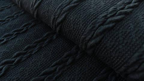 Schwarzer Uni Strickstoff: Kabel - 160 cm kaufen im Makerist Materialshop