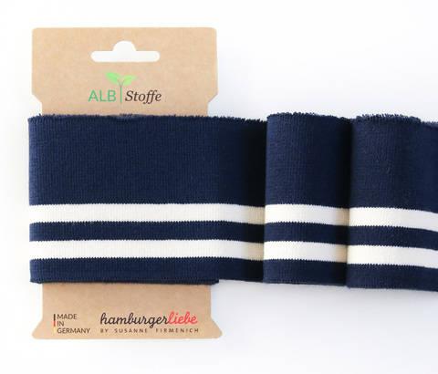 Elastische Cuff me Bündchen: College - Col.15 blau weiß kaufen im Makerist Materialshop