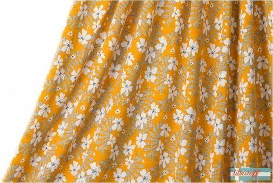 Gelber Slubjersey lillestoff: Annalena - 140 cm - Stoffe kaufen im Makerist Materialshop
