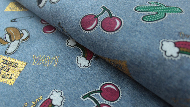 Jeansblauer Happy Fleece: Too Cool For School - 150 cm - Stoffe kaufen im Makerist Materialshop
