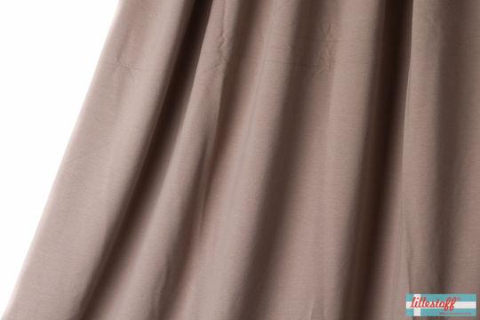 Taupefarbener Uni Summersweat lillestoff - 150 cm - Stoffe kaufen im Makerist Materialshop