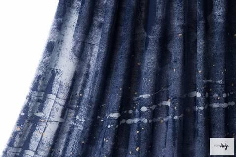 Dunkelblauer Modalstoff Rapport lillestoff: Party - 150 cm kaufen im Makerist Materialshop