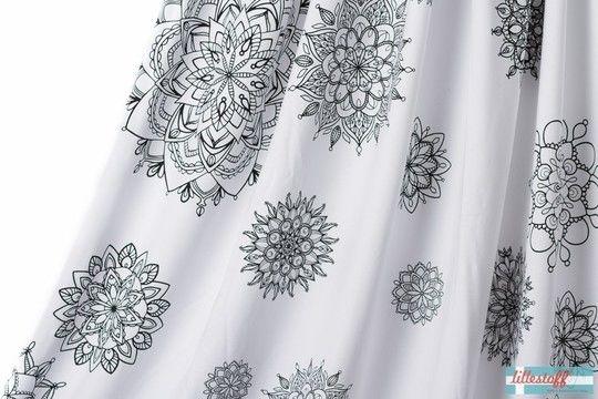 Weiß bedruckter Bio-Jersey lillestoff: Mandala - 160 cm - Stoffe kaufen im Makerist Materialshop
