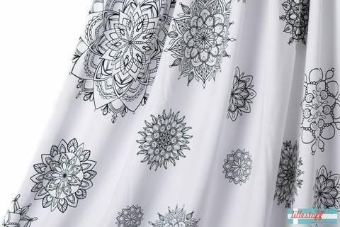 Weiß bedruckter Bio-Jersey lillestoff: Mandala - 160 cm kaufen im Makerist Materialshop