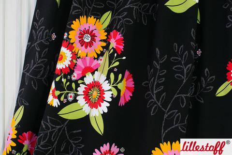 Schwarz bedruckter Bio-Jersey: Letizia - 150 cm kaufen im Makerist Materialshop