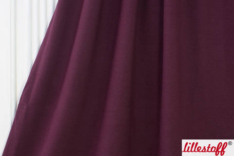 Beerenfarbiger Uni Jacquardsweat lillestoff - 140 cm kaufen im Makerist Materialshop