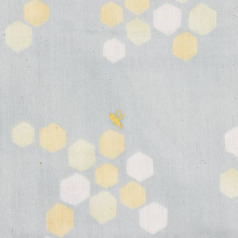 KOKKA Double Gauze Tréfle grau/ Biene gold kaufen im Makerist Materialshop