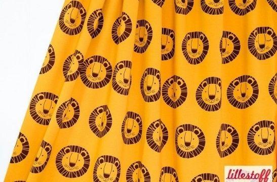 Gelber Bio-Jersey lillestoff: Löwe Bo - 150 cm - Stoffe kaufen im Makerist Materialshop