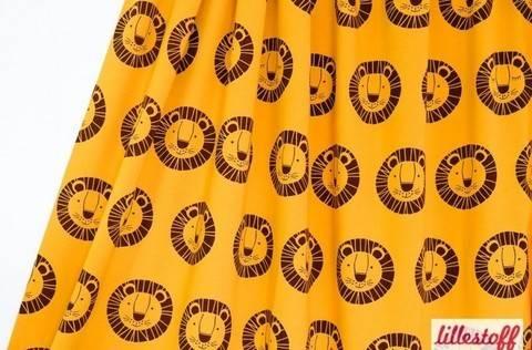 Gelber Bio-Jersey lillestoff: Löwe Bo - 150 cm kaufen im Makerist Materialshop