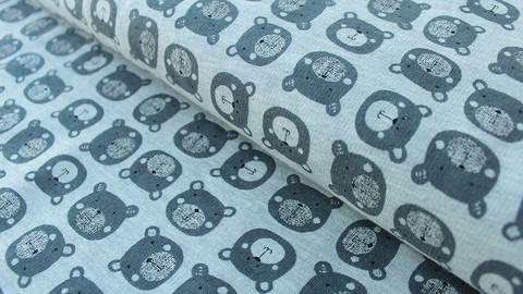 Grau melierter Sweatstoff : Avalana Bär - 150 cm kaufen im Makerist Materialshop