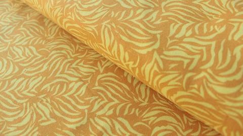 Okerfarbener Jersey: Megan Blue Tricot Zebra Skin - 150 cm kaufen im Makerist Materialshop