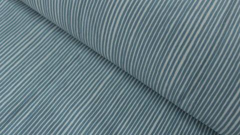 Jerseystoff hellblau-weiß: Avalana Streifen - 160 cm kaufen im Makerist Materialshop