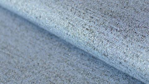 Blau melierter Jersey: Sparkling - 145 cm kaufen im Makerist Materialshop