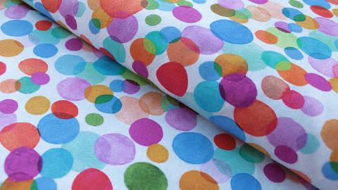 Weißer Jersey: Bunte Kreise - 150 cm kaufen im Makerist Materialshop