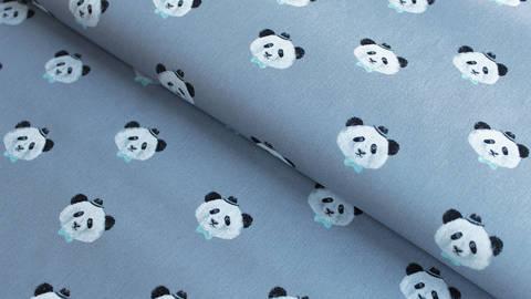 Grauer Baumwollstoff: Panda - 150 cm kaufen im Makerist Materialshop