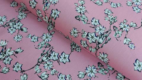 Baumwoll-Satin rosa: Kirschblüten - 145 cm kaufen im Makerist Materialshop