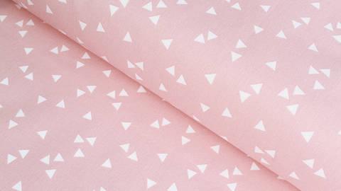 Baumwollstoff Dreieck rosa-weiß: Triangle - 150 cm kaufen im Makerist Materialshop