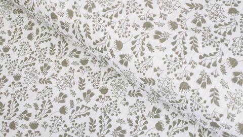 Weißer Baumwollstoff Musselin: Blumen - 132 cm kaufen im Makerist Materialshop