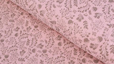Rosafarbener Baumwollstoff Musselin: Blumen - 132 cm kaufen im Makerist Materialshop