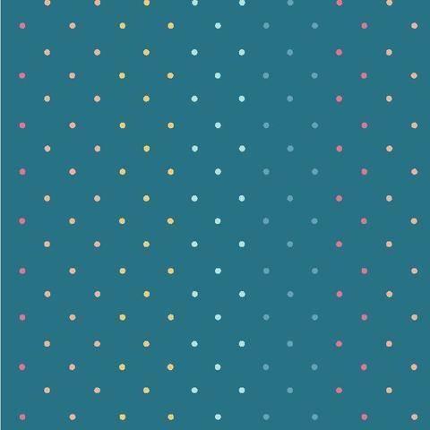 Petrolfarbener Baumwolljersey: Magic Dots - 145 cm  kaufen im Makerist Materialshop