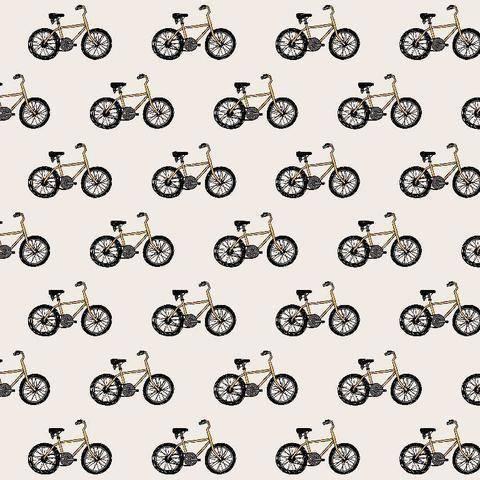 Beiger Baumwolljersey: Fahrräder - 150 cm  kaufen im Makerist Materialshop