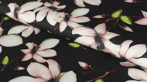 Schwarzer Druckstoff: Big Flowers - 150 cm kaufen im Makerist Materialshop