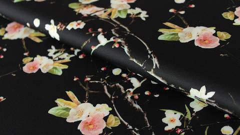 Schwarzer Druckstoff: Small Flowers - 150 cm kaufen im Makerist Materialshop