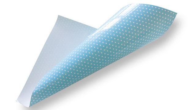 Pünktchen Flockfolie zum Plotten - hellblau - Plotter und Folien kaufen im Makerist Materialshop