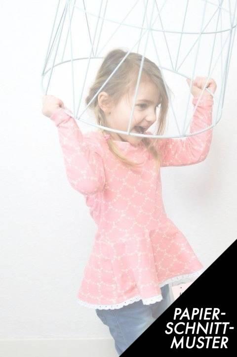 """Gedrucktes Schnittmuster für: Volantshirt """"Nastja"""" Kinder - Schnittmuster kaufen im Makerist Materialshop"""