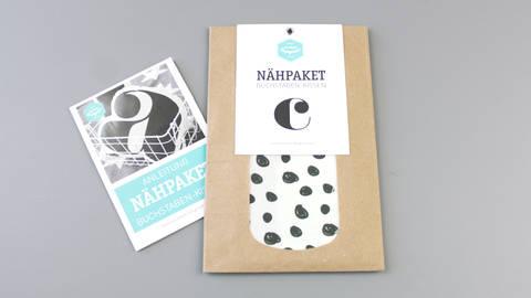 Dekokissen: Buchstabe mit Punkte-Muster - c kaufen im Makerist Materialshop