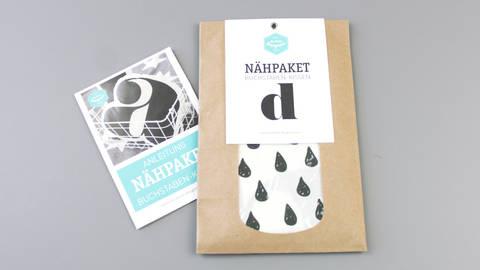 Dekokissen: Buchstabe mit Tropfen-Muster - d kaufen im Makerist Materialshop