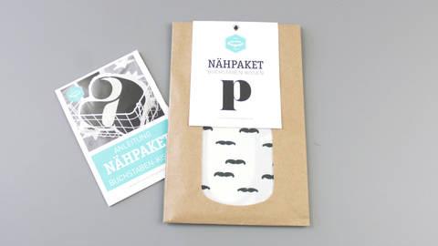 Dekokissen: Buchstabe mit Bärte Muster - p kaufen im Makerist Materialshop