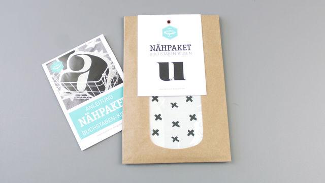 Dekokissen: Buchstabe mit X-Muster - u - Materialsets kaufen im Makerist Materialshop