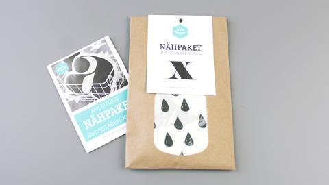 Dekokissen: Buchstabe mit Tropfen-Muster - x kaufen im Makerist Materialshop