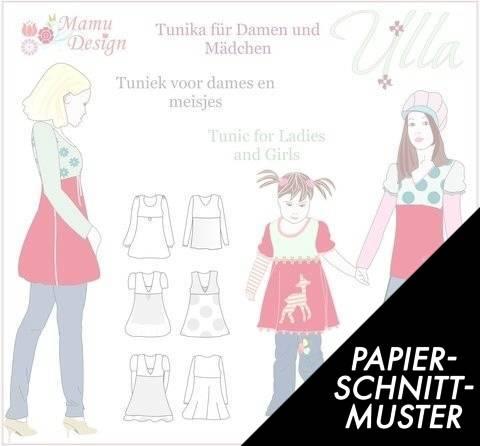 Gedrucktes Schnittmuster für: ULLA Tunika, Kleid, Shirt Schnittmuster Damen und Mädchen kaufen im Makerist Materialshop