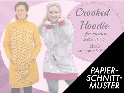 Gedrucktes Schnittmuster für: Crooked Hoodie for women kaufen im Makerist Materialshop