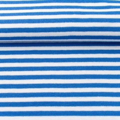 Ringelbündchen blau-weiß kaufen im Makerist Materialshop