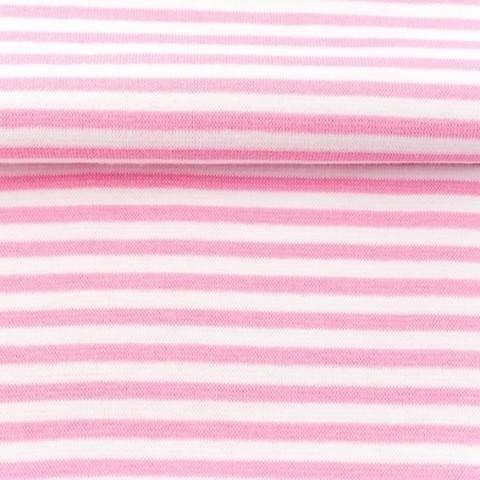 Ringelbündchen rosa-weiß kaufen im Makerist Materialshop