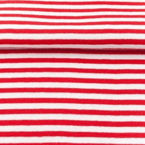 Ringelbündchen rot-weiß kaufen im Makerist Materialshop
