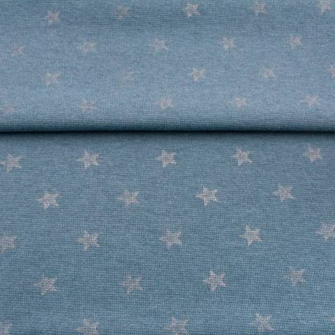 Bündchen rauchblau-meliert: Glitzer Stern - 70 cm kaufen im Makerist Materialshop