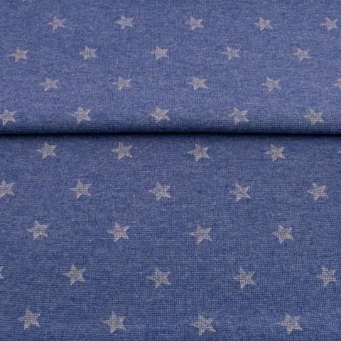 Bündchen Jeans-meliert: Glitzer Stern - 70 cm kaufen im Makerist Materialshop