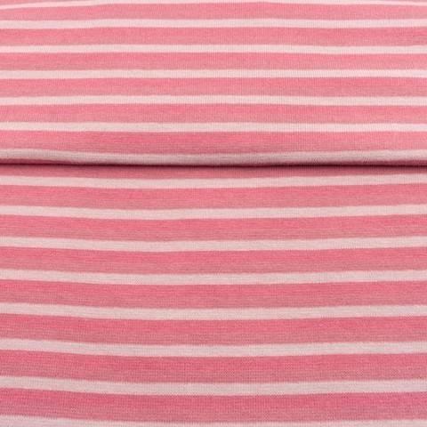 Altrosafarbenes Bündchen: Streifen - 70 cm kaufen im Makerist Materialshop
