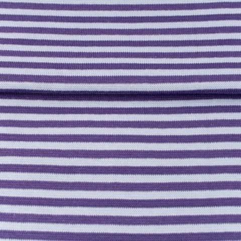 Bündchen lila-flieder: Streifen - 70 cm kaufen im Makerist Materialshop