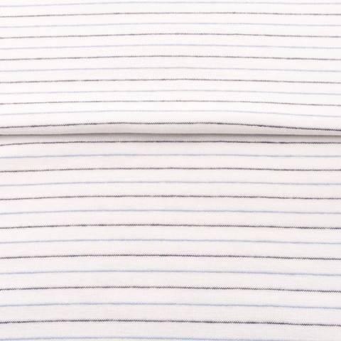 Weiß-Hellblaues Bündchen: Streifen - 70 cm kaufen im Makerist Materialshop