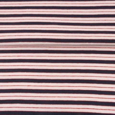 Dunkelblau rosafarbenes Bündchen: Streifen - 70 cm kaufen im Makerist Materialshop