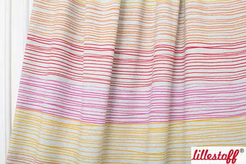 Rot-orange melierter Bio-Jersey lillestoff: Buntstiftstreifen - 150 cm kaufen im Makerist Materialshop