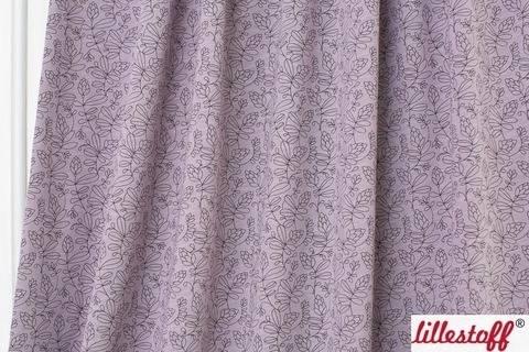 Fliederfarbener Slubjersey lillestoff: Tendril Bloom - 150 cm kaufen im Makerist Materialshop