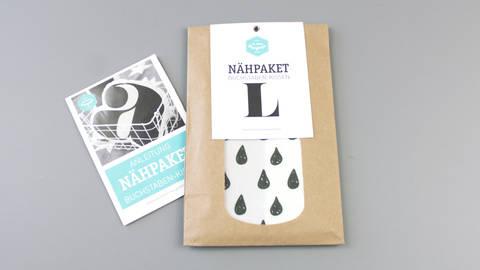 Dekokissen: Buchstabe mit Tropfen-Muster - L kaufen im Makerist Materialshop